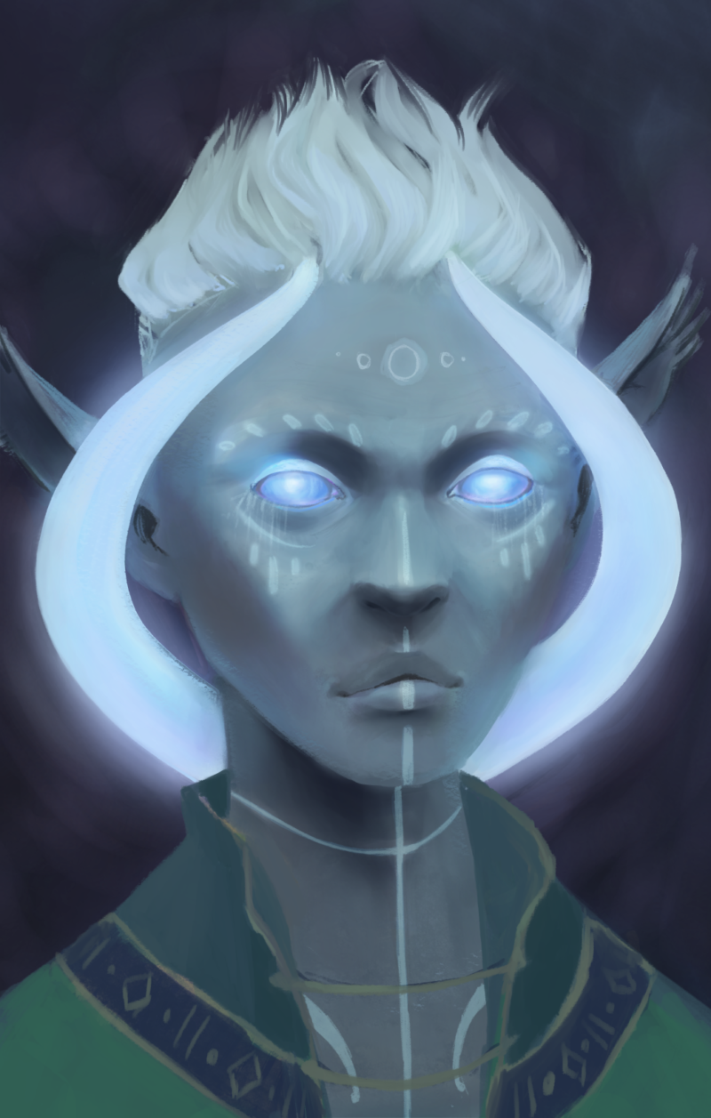 portrait of a personal moon godlike character from pillars of eternity