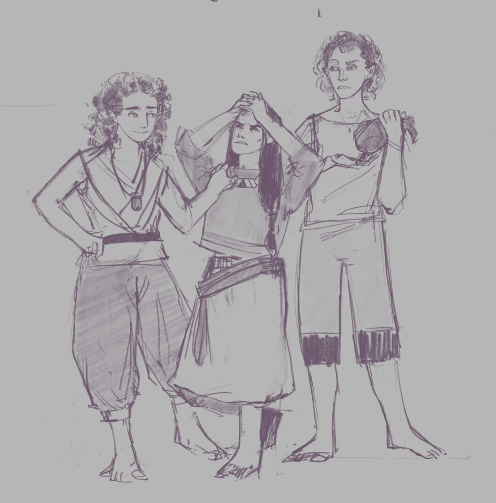 Mellow, Token, and Charm, having a discussion