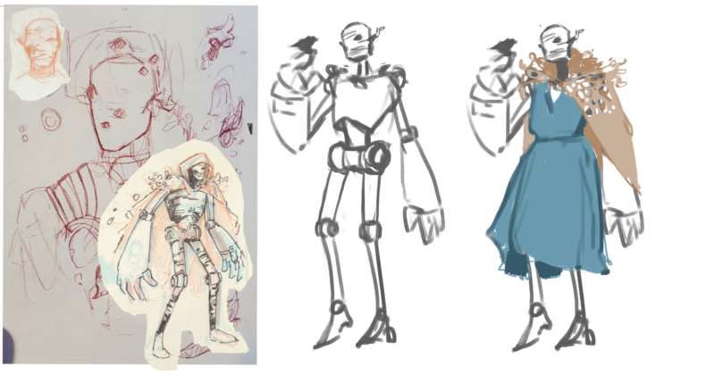 early concept sketches of Eclipse